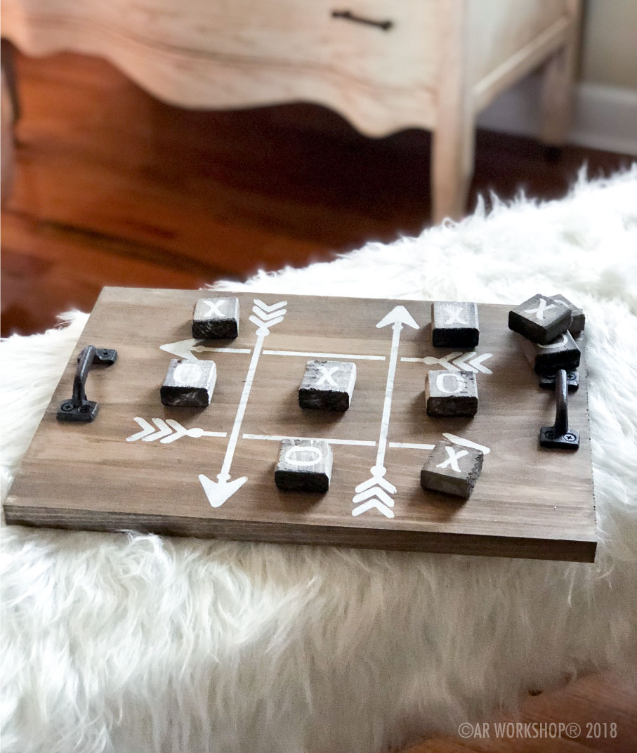 tic tac toe youth plank 12x16 tray