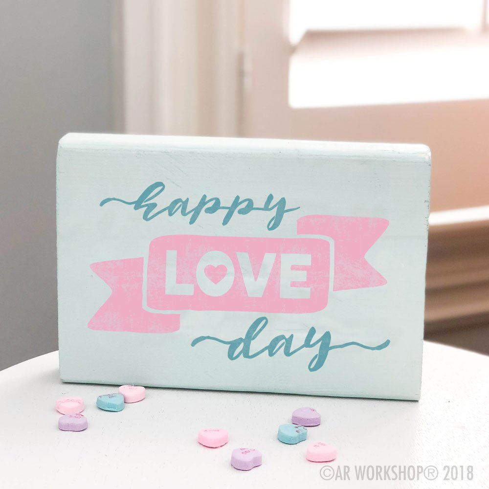Happy Love Day valentines mini wood sign