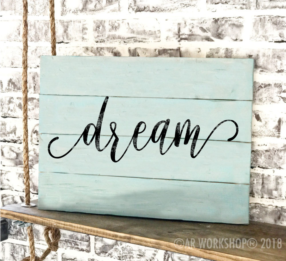 word of the year so pretty font plank sign 14x19