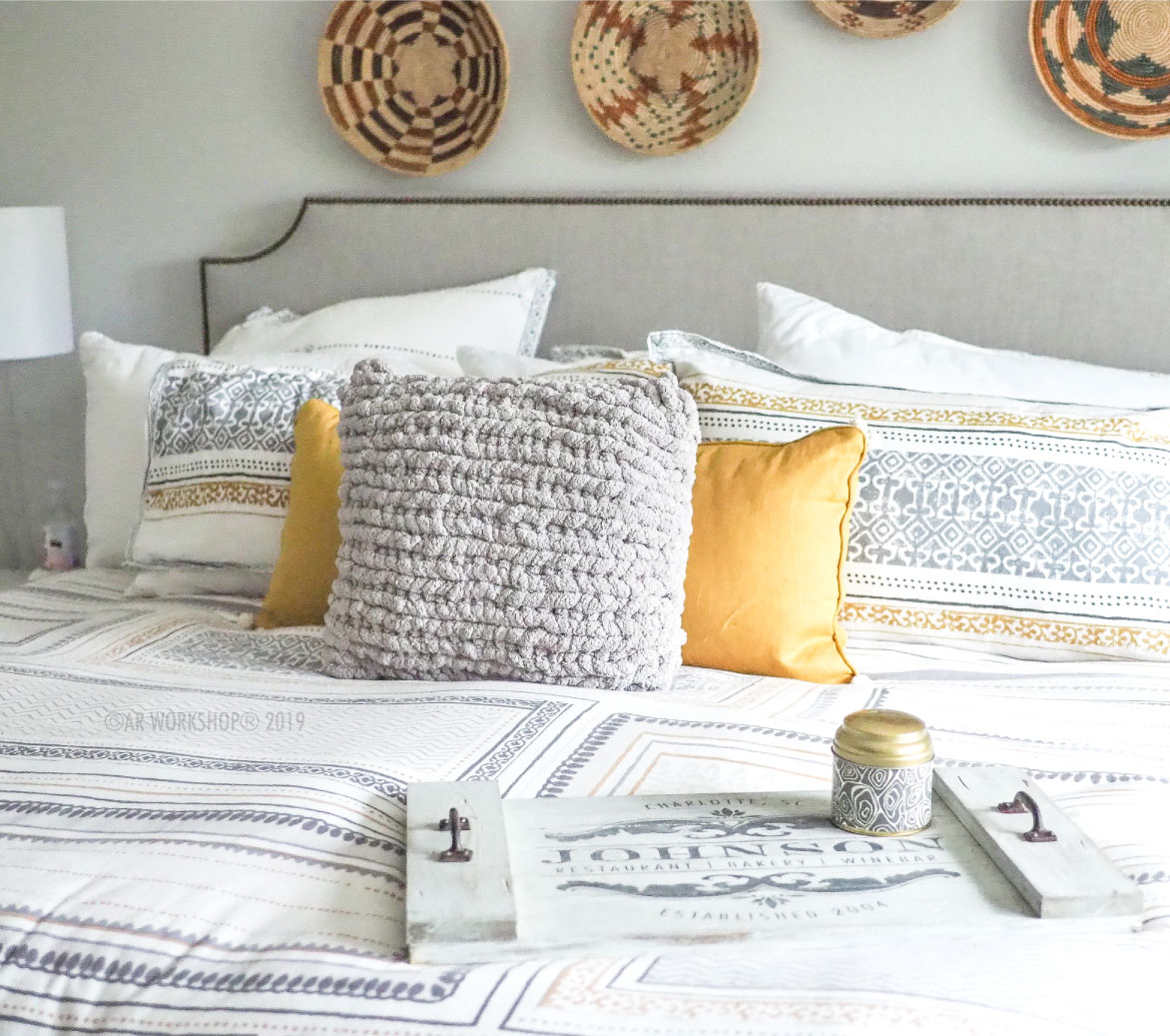 chunky knit pillow workshop