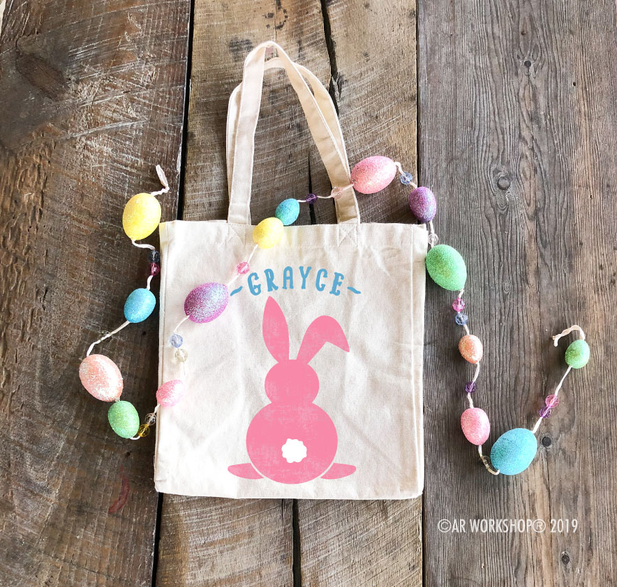 Easter Bunny Tail Tote Bag