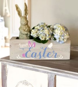 """Happy Easter Bunny Chick centerpiece box 16"""""""
