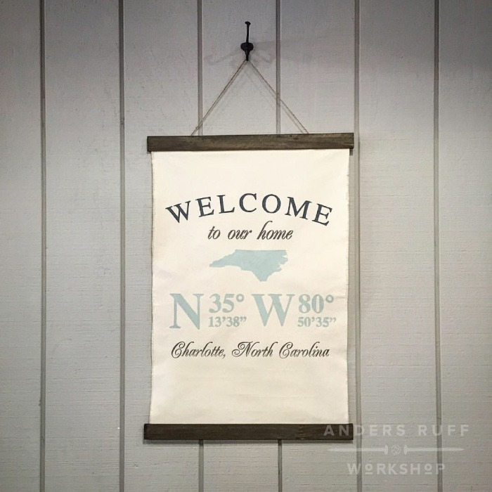 Welcome to our home Coordinates State - 20x30 (Any State)