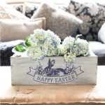 Easter Floral Vintage Label centerpiece box 16""