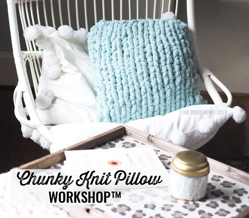 chunky knit pillow ar workshop