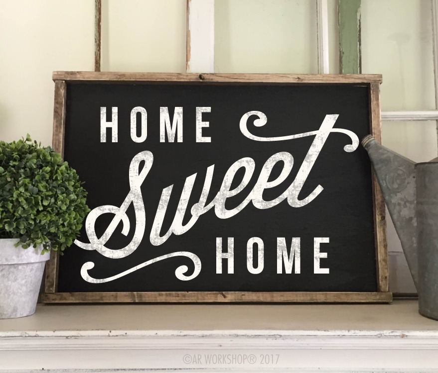 home sweet home framed 18x26