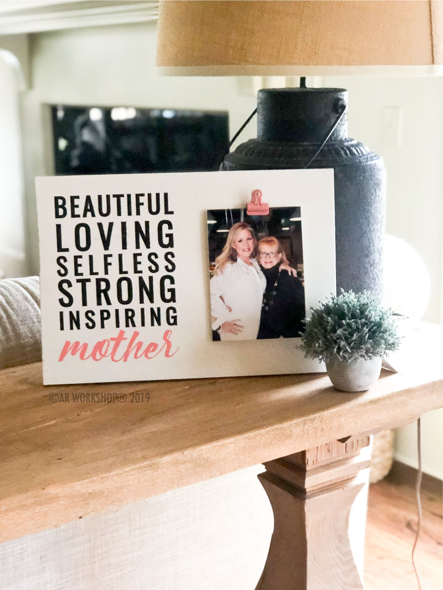 Words to Describe Mother Wood Photo Frame