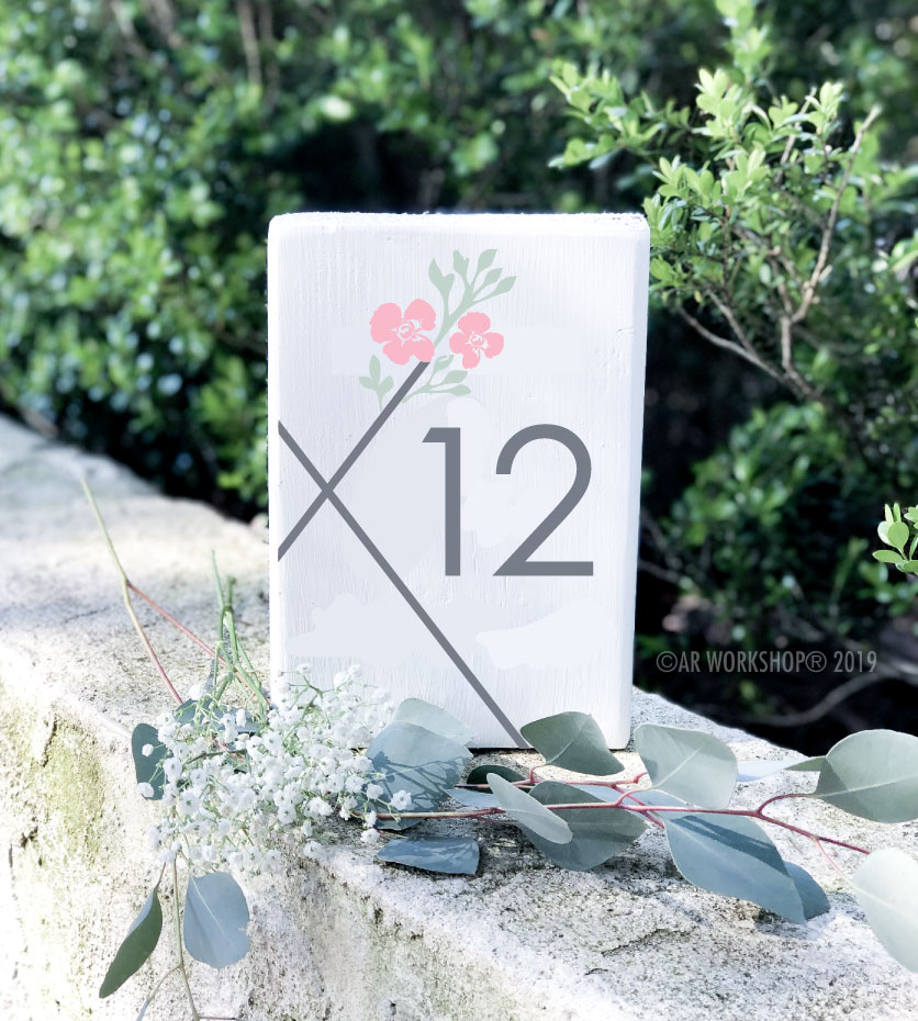 contemporary hexagon logo table number