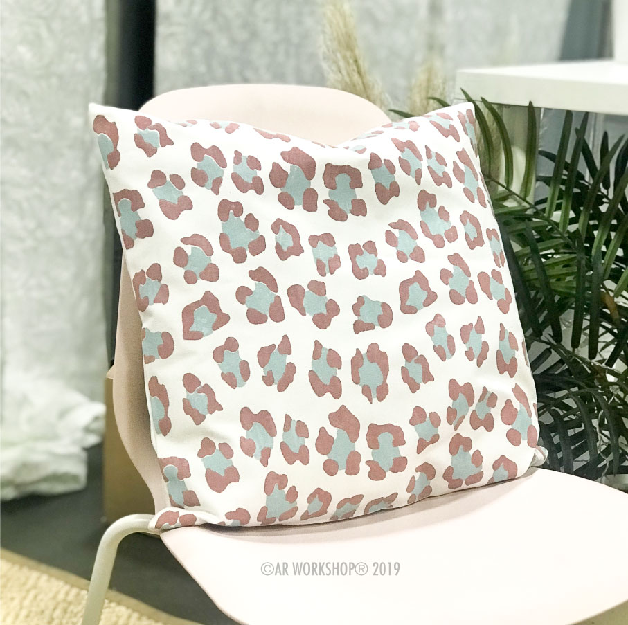 cheetah pattern canvas pillow