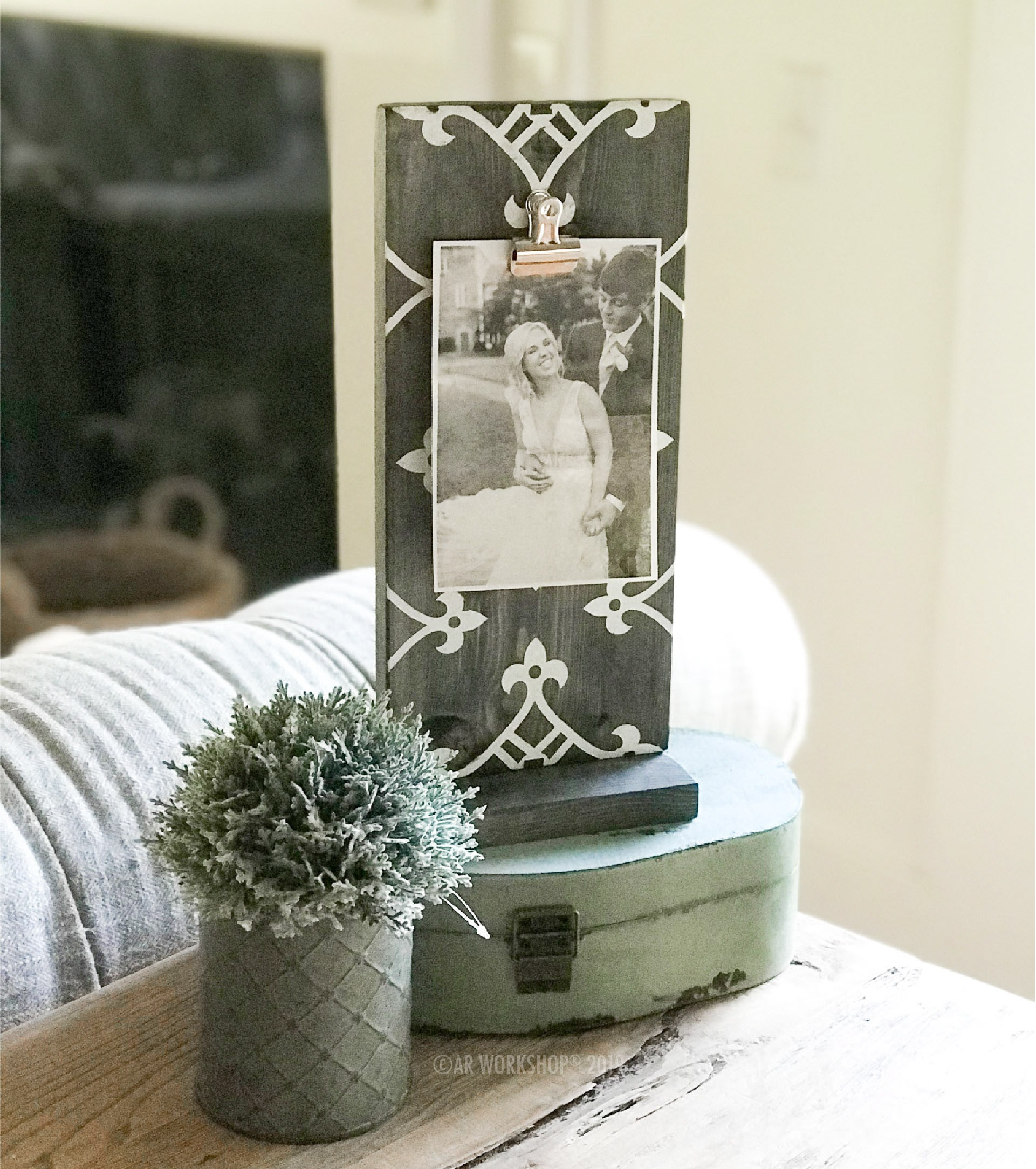 indie boho standing photo frame - vertical