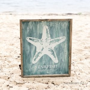 starfish classification framed sign 18x21