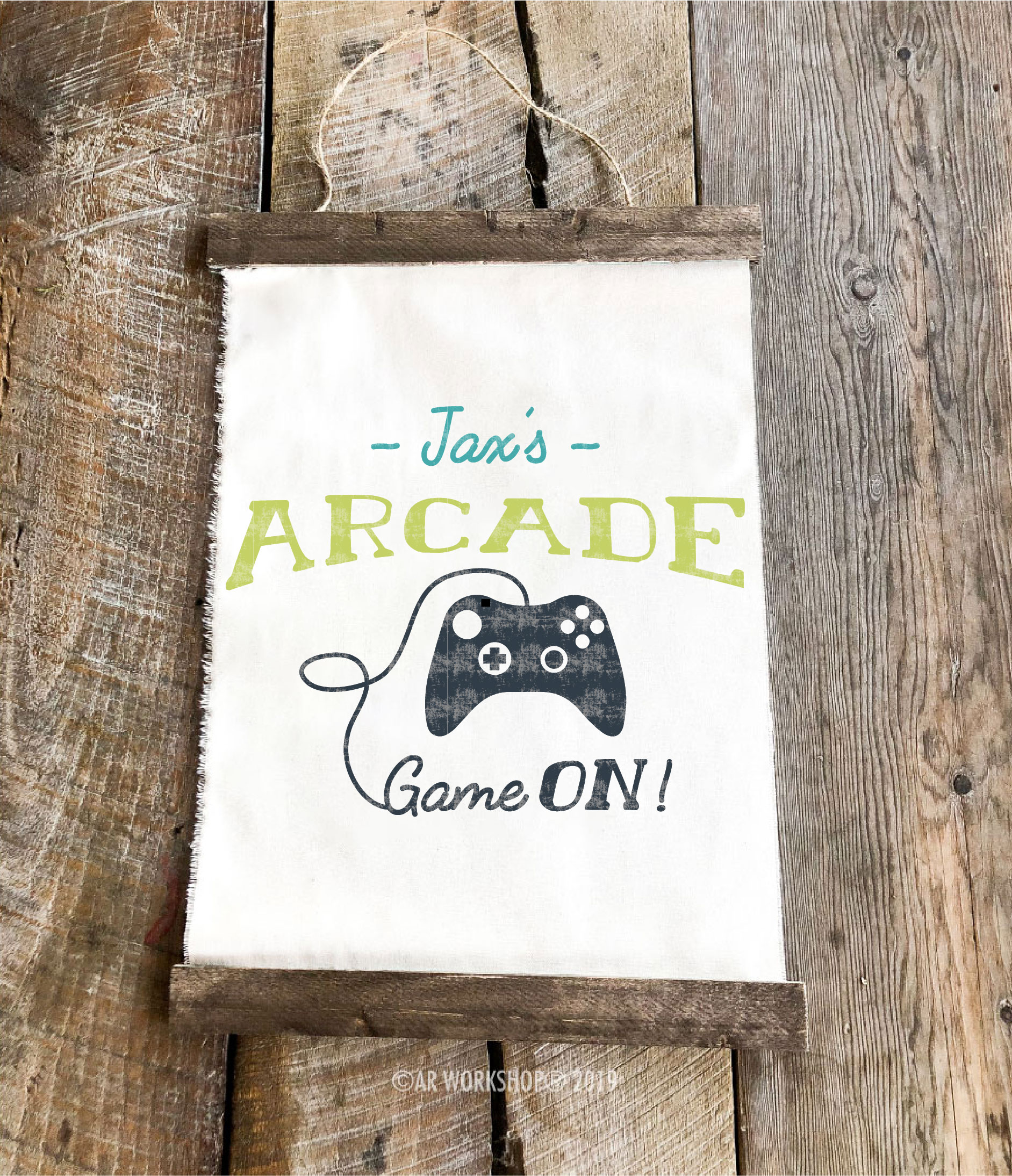 arcade game youth canvas hanging