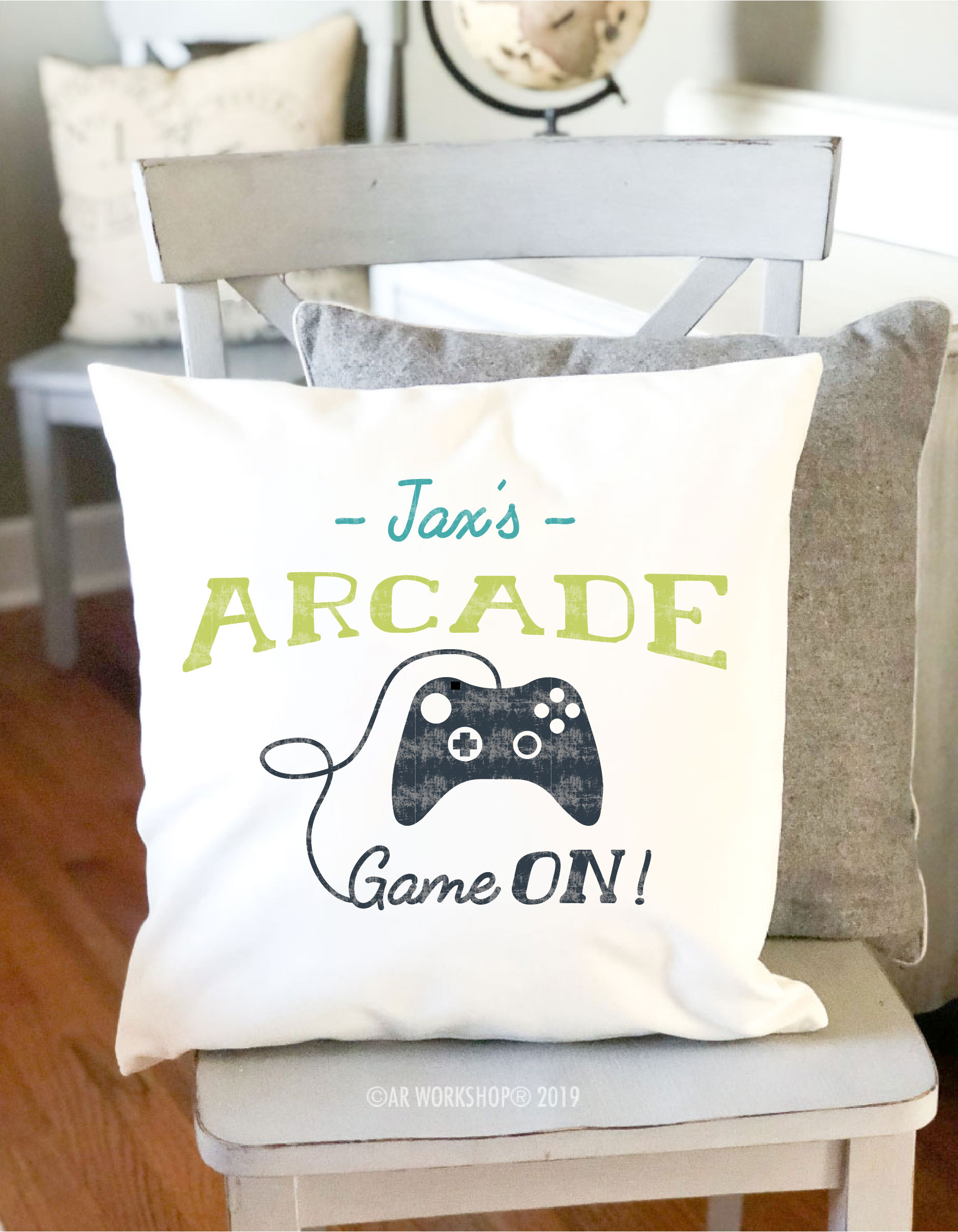 arcade game canvas pillow