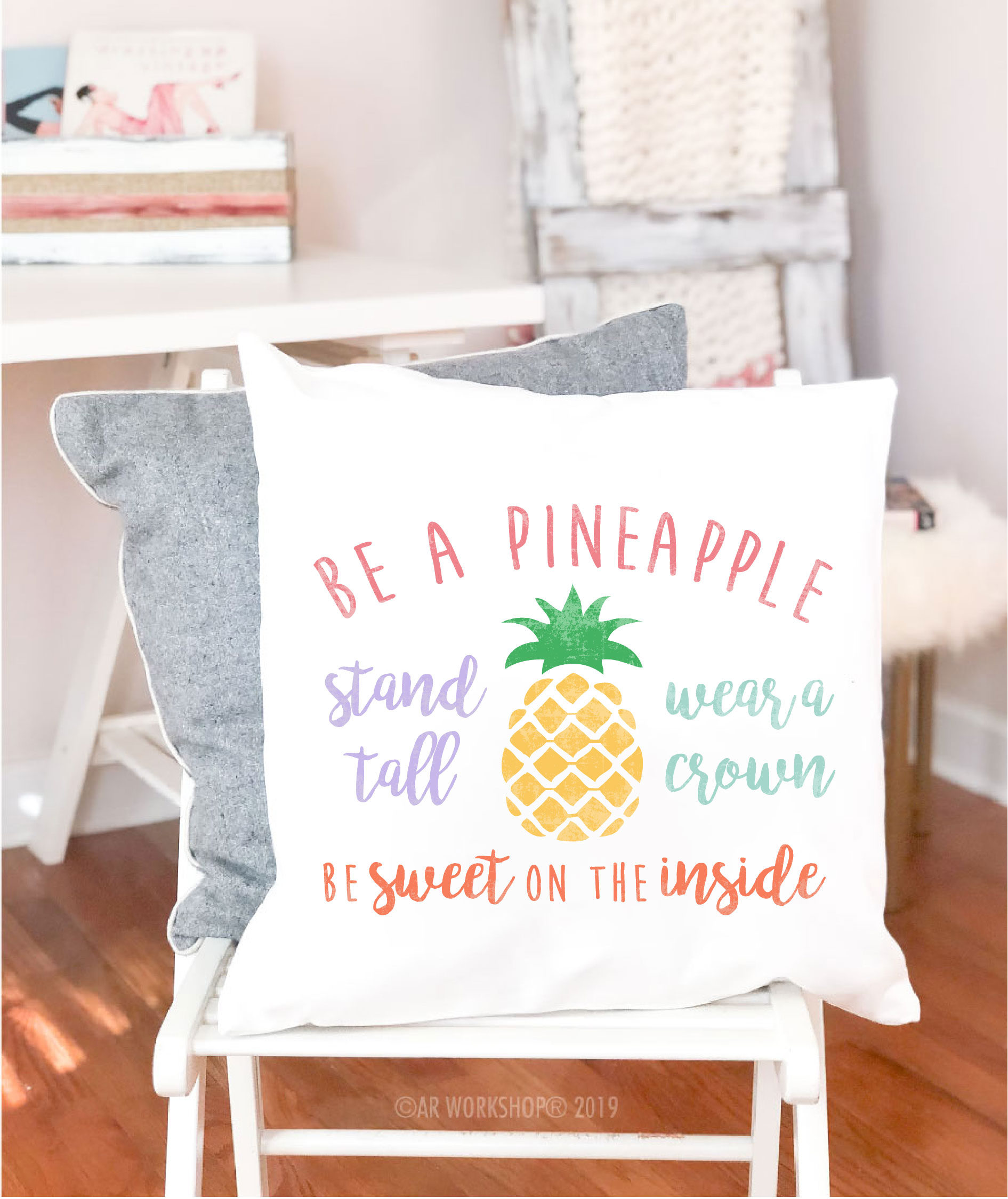 be a pineapple canvas pillow