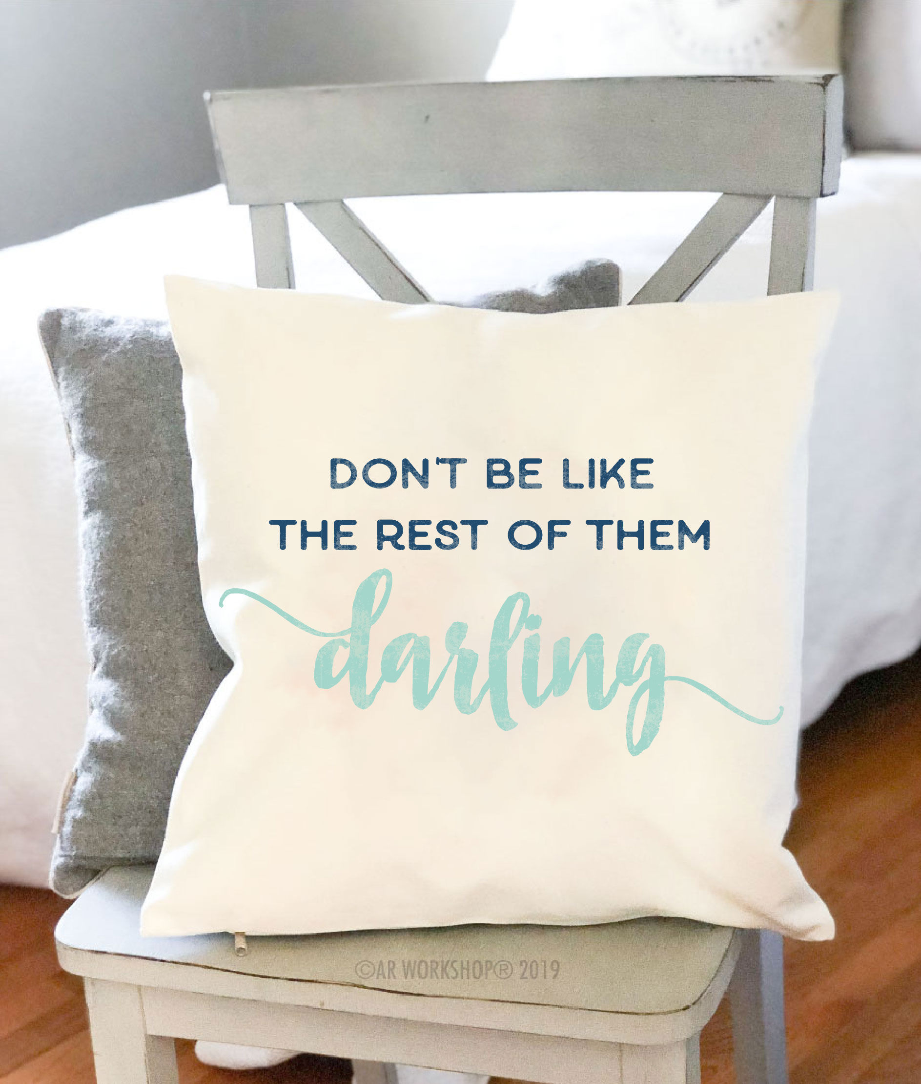 don't be like the rest of them canvas pillow