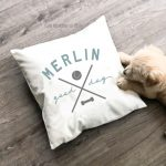 good dog canvas pillow