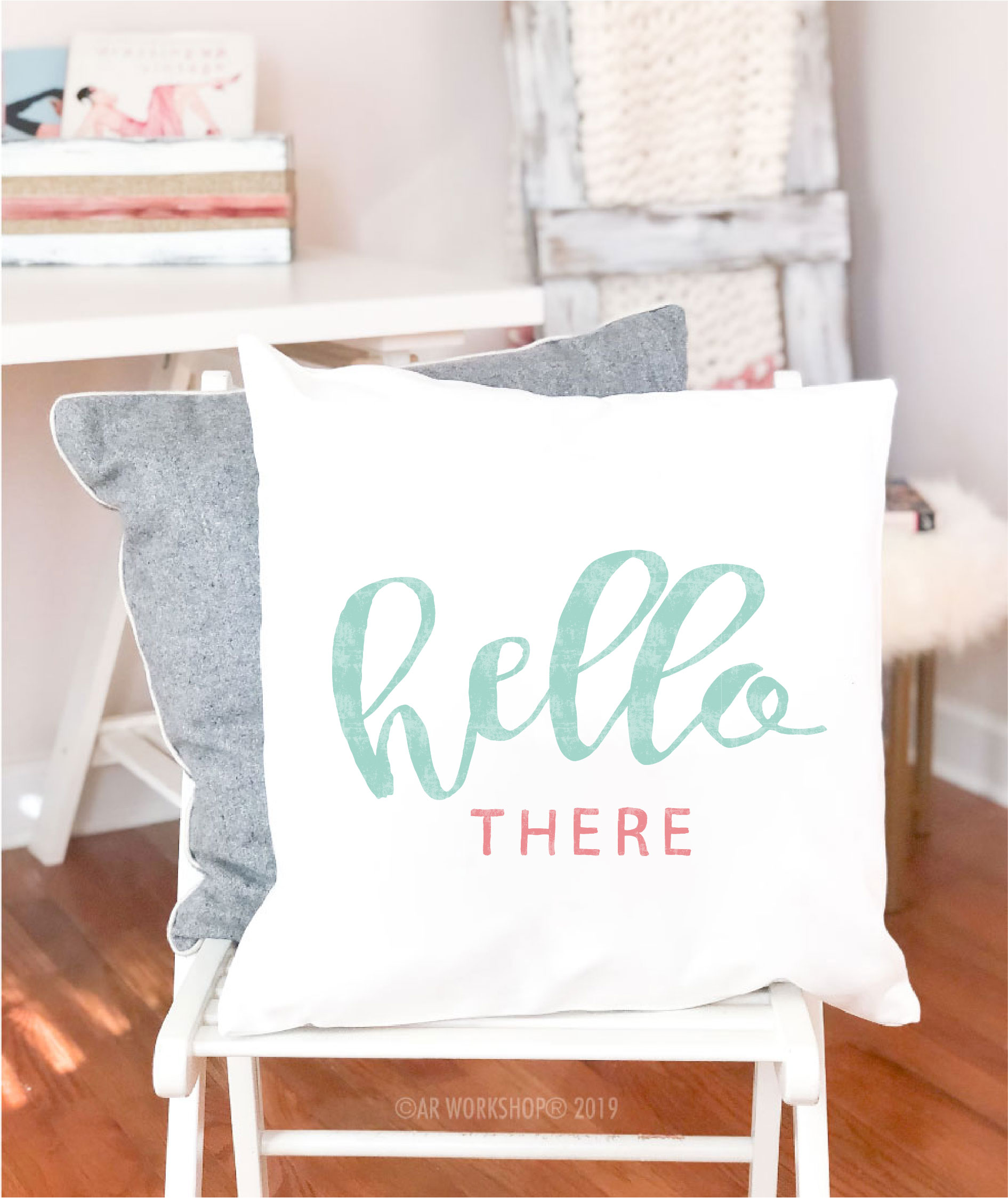 hello there canvas pillow