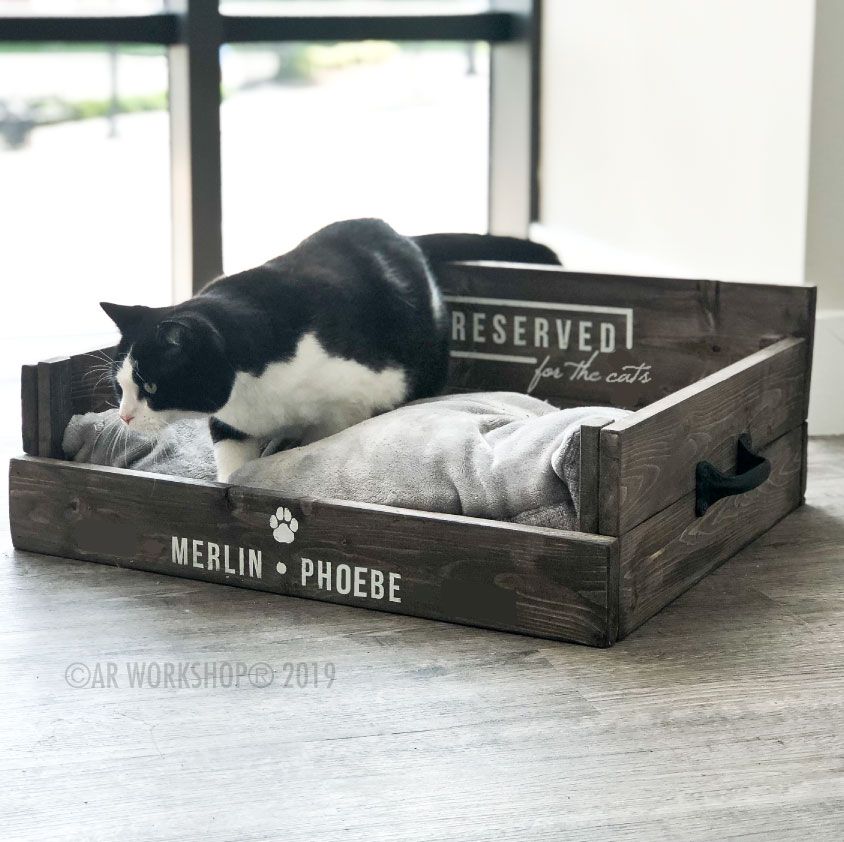 reserved for the cats pet bed