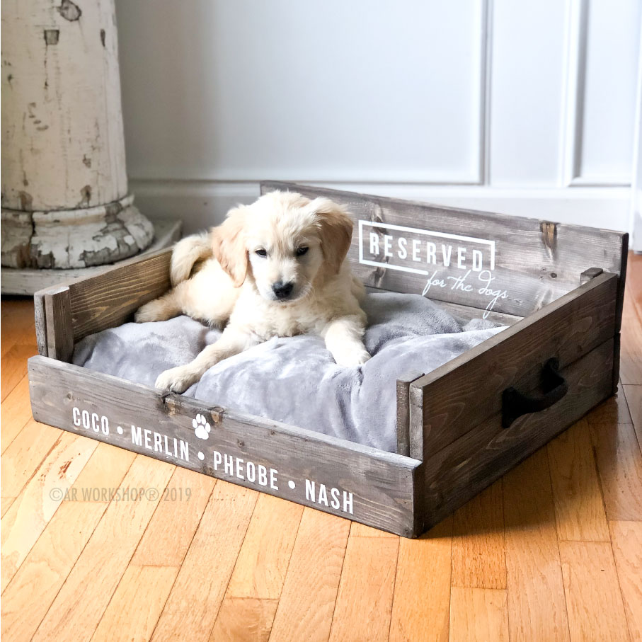 reserved for the dogs pet bed