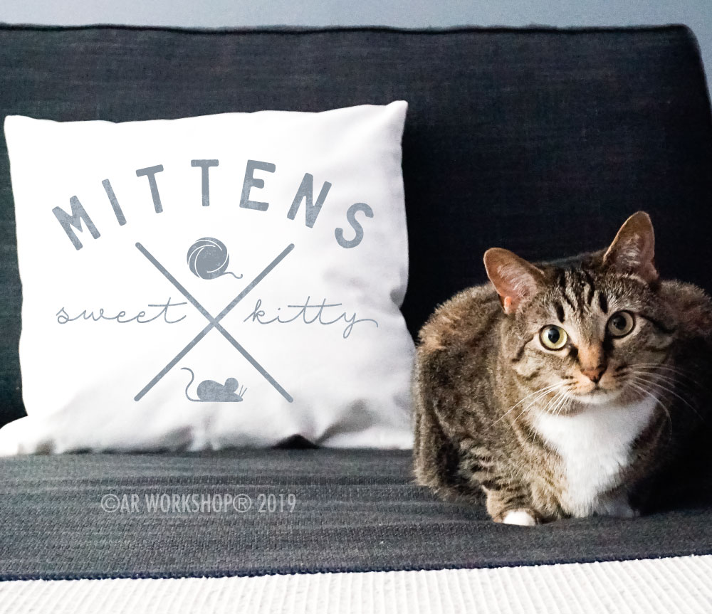 sweet kitty canvas pillow