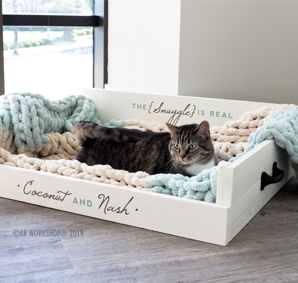 the snuggle is real cat pet bed