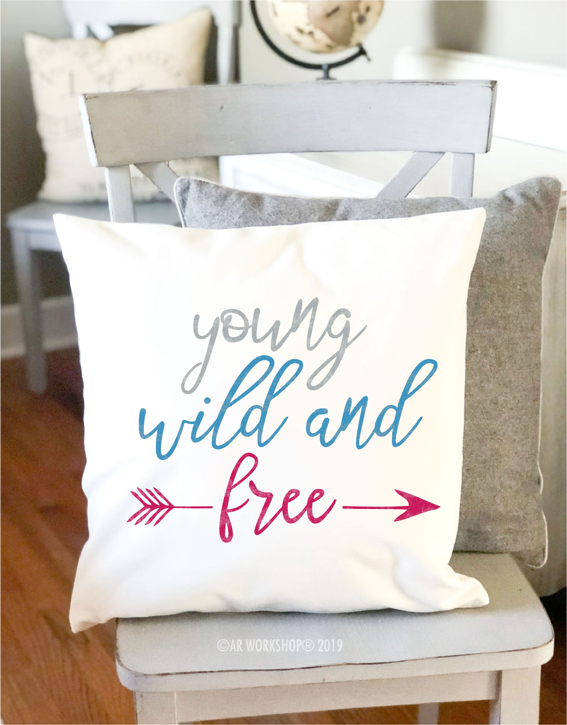 young wind and free kids canvas pillow