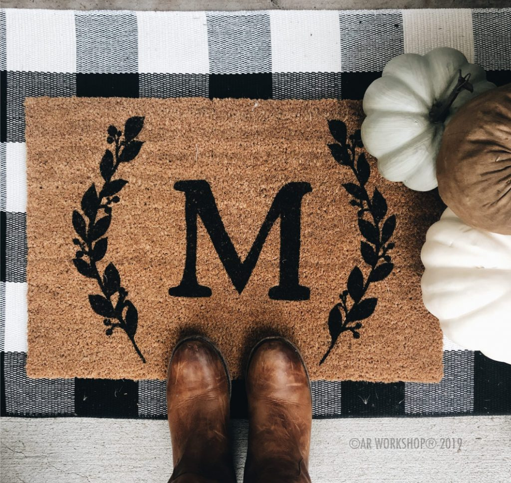 personalized door mat monogram