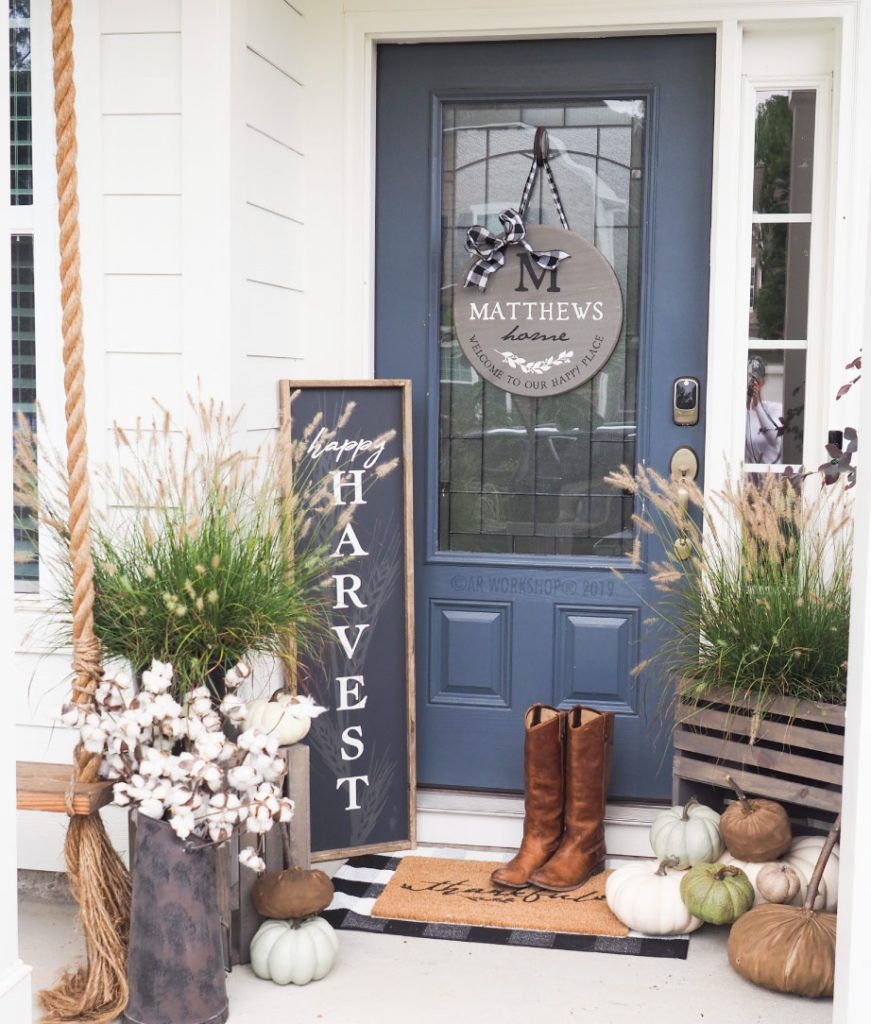 farmhouse fall harvest porch diy