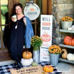 psl pumpkin themed porch fall decor