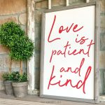 Love Kind Wood Sign