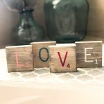 Wood Tiles Love Scrabble