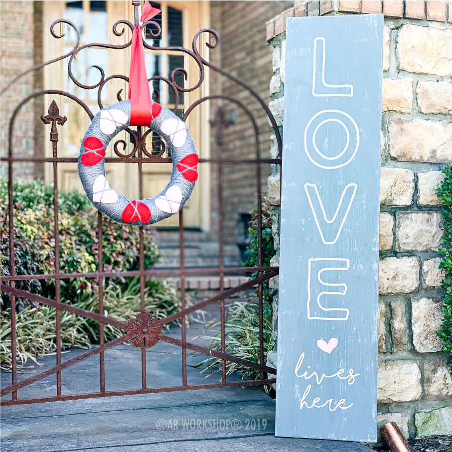 Valentines Day Porch Sign