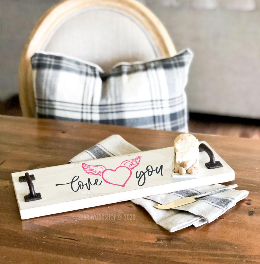 Valentines Plank Tray