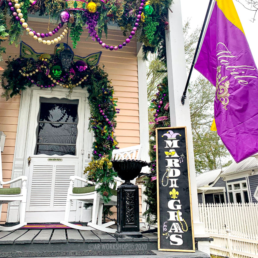 Mardi Gras Porch Sign