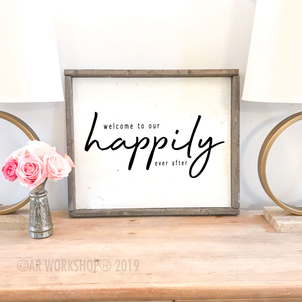 Happy Wedding Framed Sign