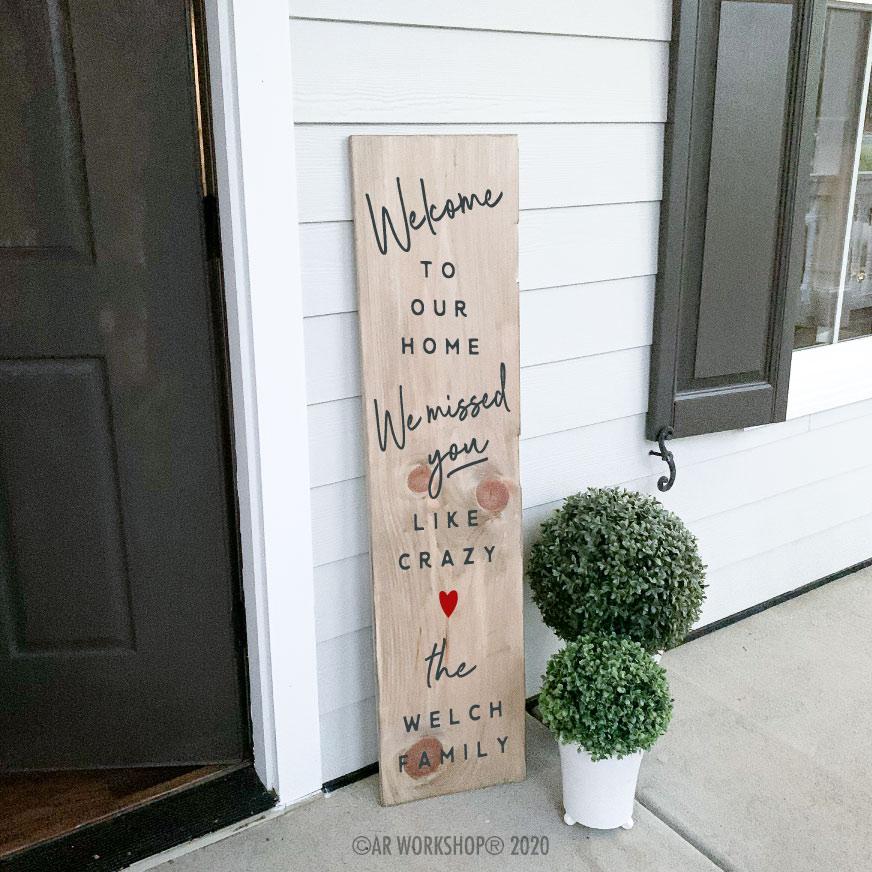 Valentines Porch Plank