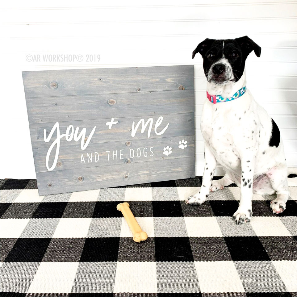 Pet Dog Plank Wood Sign
