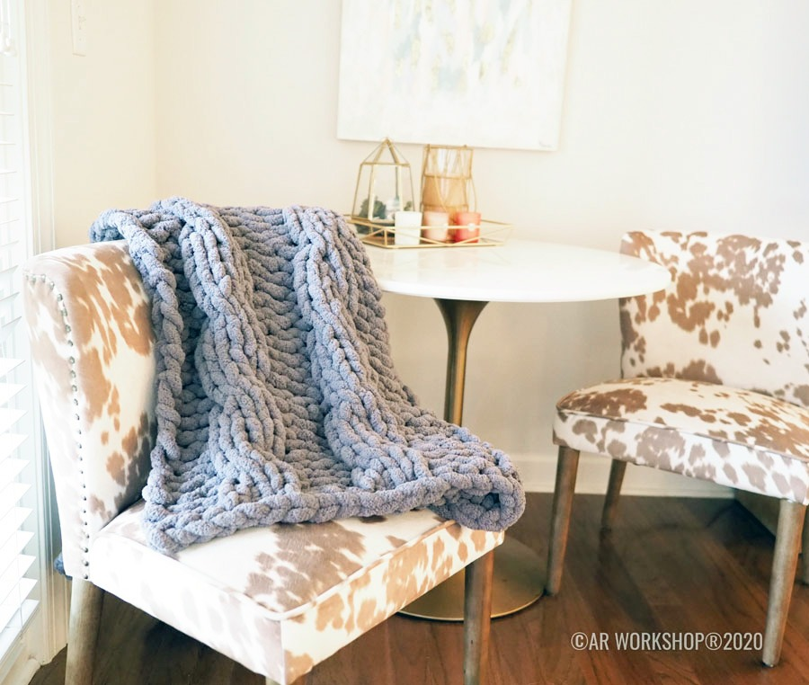 cable knit blanket diy class