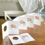 diy rainbow art decor project cads