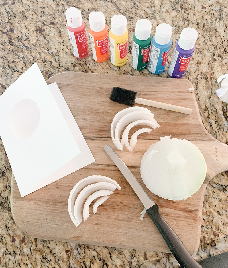 diy vegetable stamping craft