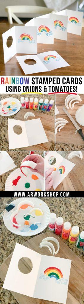 rainbow onion stamping
