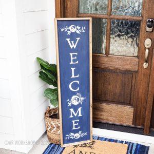 Boho Peony Welcome Porch Sign