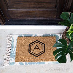 Hexagon Initial Doormat