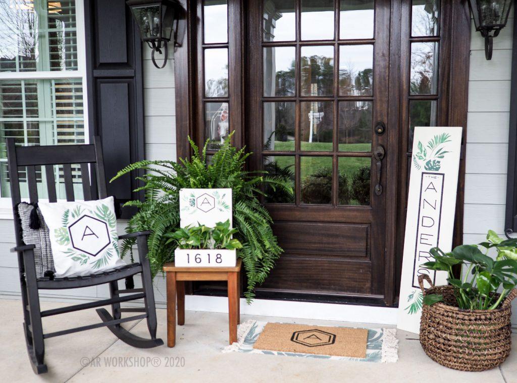 Palm Print Spring Porch