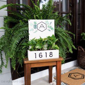 Palm Adress Box Planter