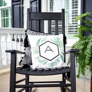 Palm Initial Pillow