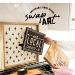 interchangeable wood signs diy home decor