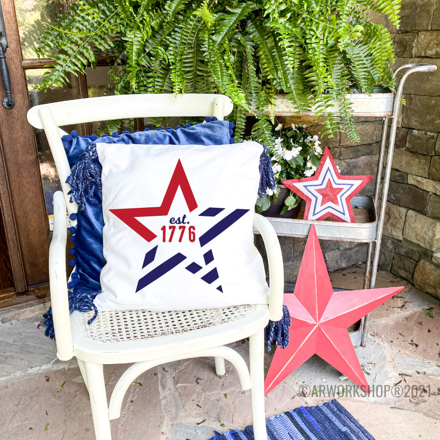 1776 Stars and Stripes DIY Canvas Pillow