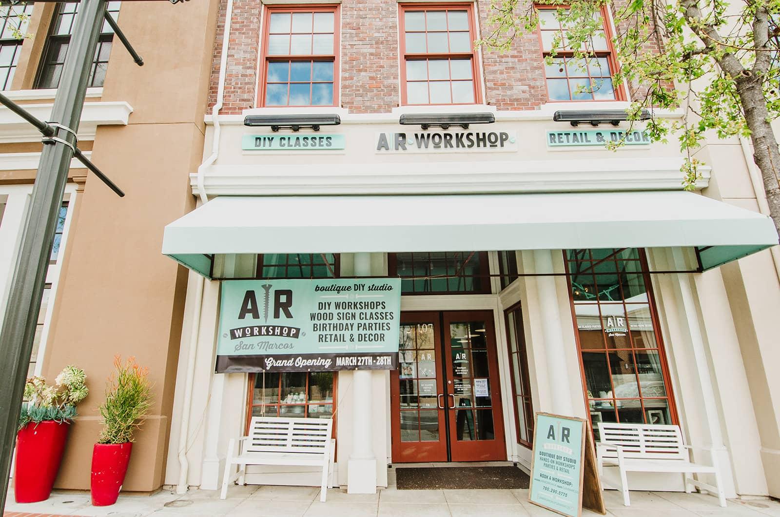 DIY Home Decor Location AR Workshop San Marcos Building Front