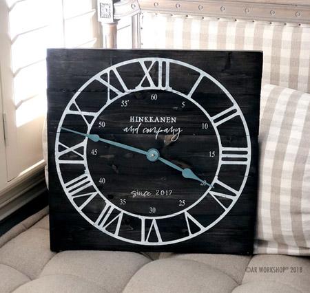 Modern Roman Numeral Clock Plank